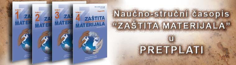 Naučno-stručni časopis Zaštita materijala u pretplati